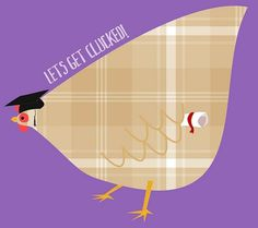 All sizes | Tartan graduation hen (party hen) | Flickr - Photo Sharing! #illustration #graduation #hen