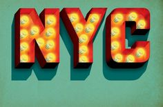 Typography on the Behance Network #illustration #typography #type #nyc #signage