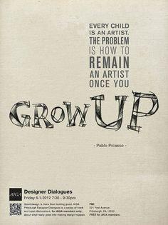 Aeson Chen Graphic Design - AIGA #picasso #print #design #poster #pablo #aiga