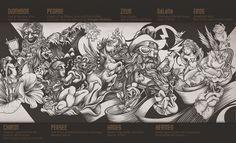 Mythologic wall by DZO Olivier