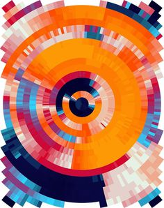 Coded Canvas - Nick Taylor #color #orange #digital #illustration #blue