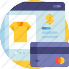 See more icon inspiration related to online payment, ui, commerce and shopping, ecommerce, credit card, payment, card, clothes, online shop and shopping on Flaticon.