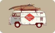 Timba's Design Dept. #bus #timba #surf #surfing #van #boards #smits #rhombus