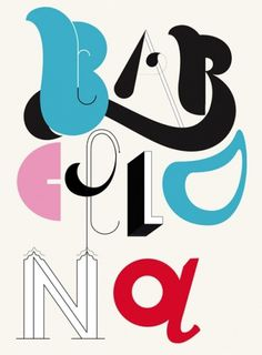 New York #barcelona #poster #typography