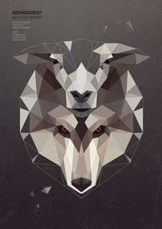 Wolf in sheep skin by Kevin Harald Campean #poly #illustration #wolf #art #low