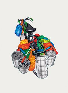 The Ghoda Cycle Project India #drawings #project #cycle #india #illustrations #art