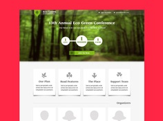 Free Eco Green Landing Page Template