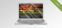 Front view of an open notebook Free Psd. See more inspiration related to Technology, Computer, Laptop, Metal, Notebook, Open, View, Showcase, Horizontal, Aluminum, Front, Render, Sliver and Portable on Freepik.