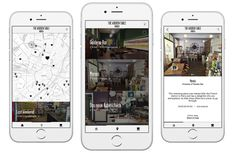 The Wooden Table: Wonderful café-guides for European cities. Screen design, Interface design