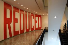 REDUCED, Cat. No. 102 (1969) by Lawrence Weiner | Flickr - Photo Sharing! #brutalism