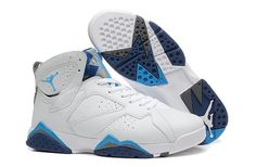 Nike Air Jordan Retro 7 Vii Mens White Black Sky Blue New Spacial