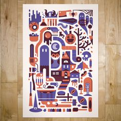 art prints : bandito design co. #illustration #poster #vector #halloween