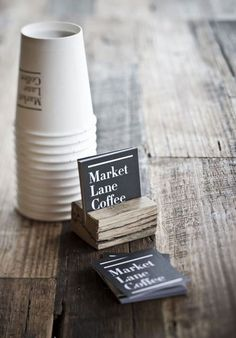 Market Lane Coffee, beautifully designed  stationery.