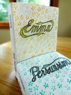 Jane Austen book covers by Kelli Fox #lettered #books #jane #austen #hand
