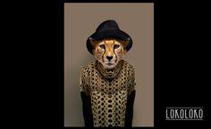 #cheetah #wild #minimal #poster #human animal #animal Poster realizado por César Sánchez Andújar para lokoloko.es