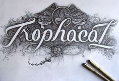 Trophaeal by Joachim Vu #handlettering #drawing #typography