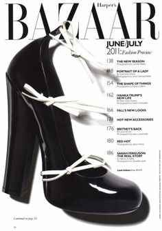Louis Vuitton Harper's Bazaar, June/July 2011 #shoes #shoe #cover #photography #fashion #bazaar
