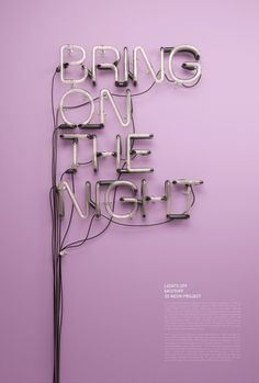 3D Neon / Lights Off on the Behance Network #lights #off #neon