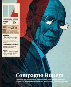 VIOLENCE GRAPHIQUE #murdoch #cover #illustration #rupert #magazine
