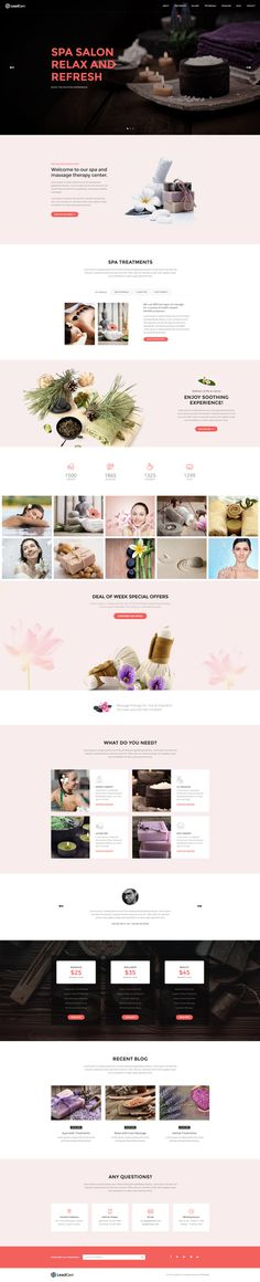 LeadGen Marketing Landing Page - Spa Salon, buy - https://goo.gl/KD0bMP