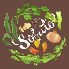 Sofrito — by Jessica Fisher #illustration #veg #greens