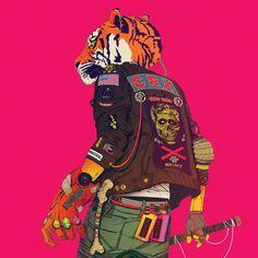 CRX - album illustration tiger