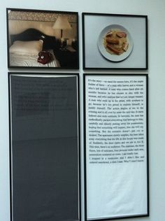 Sophie Calle at Paula Cooper | Flickr - Fotosharing! #layout #calle #art #sophie