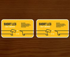 Short Leg Craft Brewers Business Cards #beer #cards #business