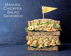 Mashed Chickpea Salad Sandwich #lunch