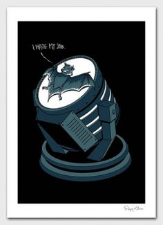 Jay Mug — Bat Signal - I Hate My Job #illustration #design