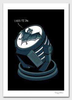 Jay Mug  Bat Signal - I Hate My Job