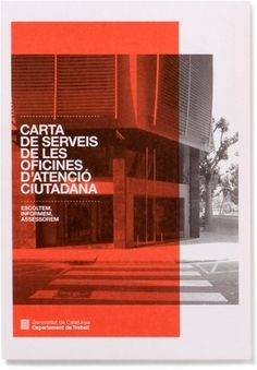 Txell Grà cia / OAC #graphic design #design #type #red #brochure #txell gracia