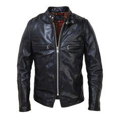 Schott CAF1 Steerhide Racer #jacket #racer #gear #cafe #leather #biker #motorcycle