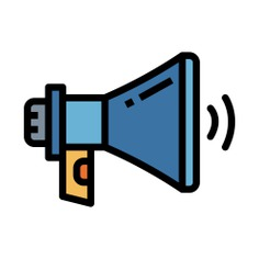 See more icon inspiration related to shout, announcer, announcement, bullhorn, loudspeaker, electronics, megaphone, communications and sound on Flaticon.
