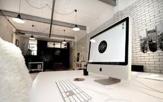 Graphic-ExchanGE - a selection of graphic projects #interior #computer #white #design #space #black