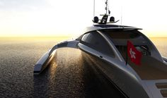Adastra super yacht on sunset #super #adastra #yacht #modern