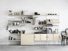 April and May: String shelves #shelf