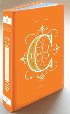 C #type #book #cover #orange #jessica hische #daily drop cap