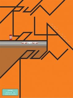 Isabelle Nicole Ahadzadeh - NOOE Graphic Design Exhibition #movie #run #lola #orange #poster