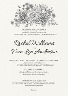 Bluemchen - Engagement Invitations #paperlust #engagement #engagementinvitation #invitation #engagementcards #engagementinspiration #weddin