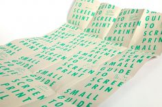 Laia Sacares. Small Guide to Screen Print #design #graphic