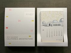 single card calendar letterpress - Google Search #calendar