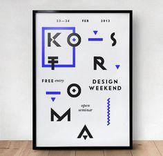 Kostroma Design Weekend #print #typography #poster #frame