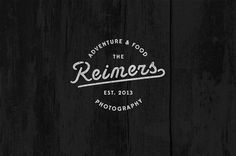 The Reimers logo #script #adventure #food #photography #logo #typography