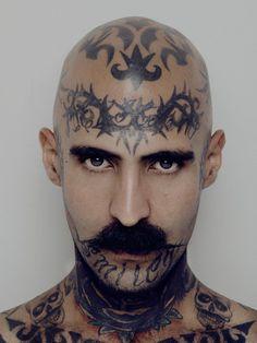 carlos alvarez montero #tattoo #portrait #moustache