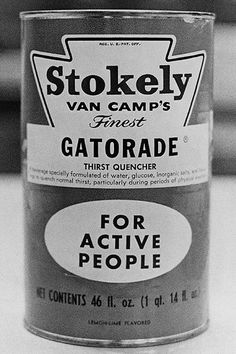 1965 Gatorade Packaging #packaging #gatorade #1960s #vintage