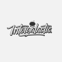 Intergalactic. Handlettering logo