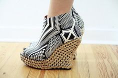 These are a few of my favorite shoes_I #amazing #shoes #wedges #print #bold