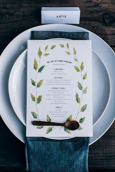 Local Milk | A Kinfolk Workshop: The Art of Camp Cooking, Nashville // photo by Hannah Messinger #menu invitation