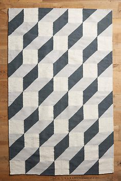 Diamond Interlock Rug, Anthropologie